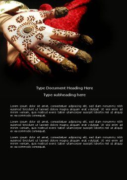Hennaed Hands Word Template Cover Page