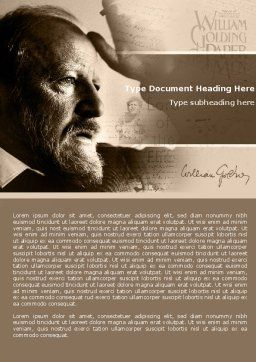 William Golding Word Template, Cover Page, 04670, People — PoweredTemplate.com