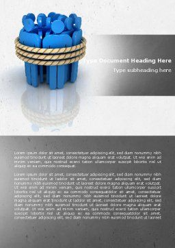 Hostages Word Template, Cover Page, 04672, Consulting — PoweredTemplate.com