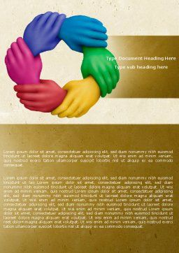 Peoples Diversity Word Template, Cover Page, 04673, Religious/Spiritual — PoweredTemplate.com