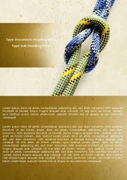 Reef Knot Word Template, Cover Page, 04678, Business Concepts — PoweredTemplate.com