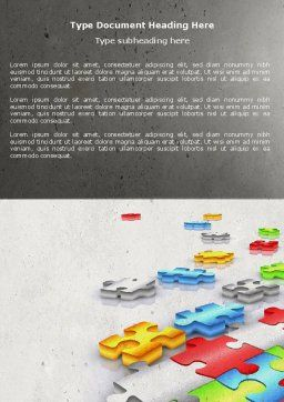 Puzzle Diversity Word Template, Cover Page, 04680, Business Concepts — PoweredTemplate.com
