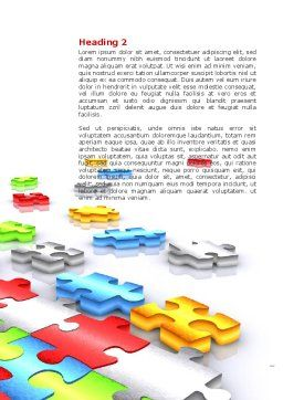Puzzle Diversity Word Template, Second Inner Page, 04680, Business Concepts — PoweredTemplate.com