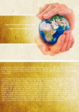 World Control Word Template, Cover Page, 04681, Global — PoweredTemplate.com