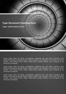 Spiral Staircase Word Template, Cover Page, 04683, Construction — PoweredTemplate.com