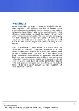 Blue Marker Word Template, Second Inner Page, 04685, Business Concepts — PoweredTemplate.com