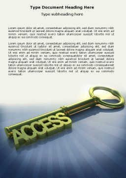 Access Key Word Template, Cover Page, 04689, Business Concepts — PoweredTemplate.com