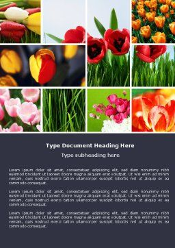 Tulips Word Template, Cover Page, 04690, Nature & Environment — PoweredTemplate.com