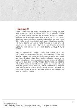 Waiting Line Word Template, Second Inner Page, 04691, 3D — PoweredTemplate.com