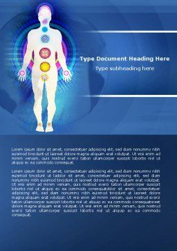 Body Chakras Word Template, Cover Page, 04696, Medical — PoweredTemplate.com