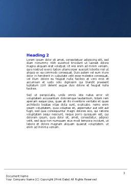 Body Chakras Word Template, Second Inner Page, 04696, Medical — PoweredTemplate.com
