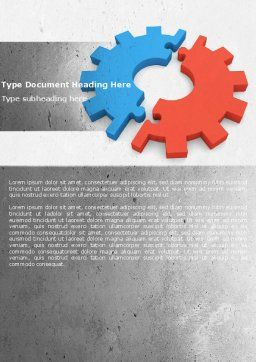 Assembling Word Template, Cover Page, 04697, Utilities/Industrial — PoweredTemplate.com