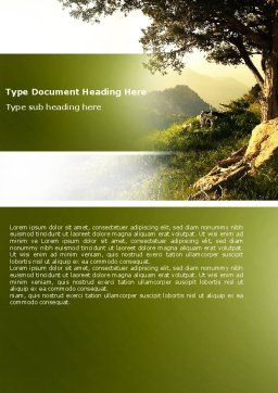 Upland Word Template, Cover Page, 04704, Nature & Environment — PoweredTemplate.com