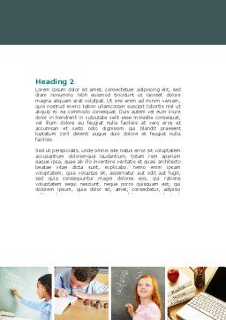 Lesson In Math Word Template Second Inner Page
