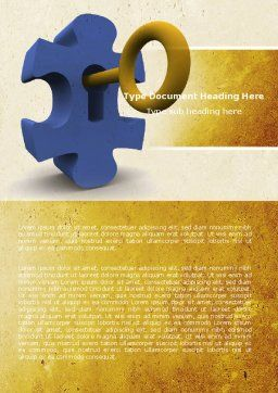 Key Puzzle Word Template, Cover Page, 04708, Consulting — PoweredTemplate.com