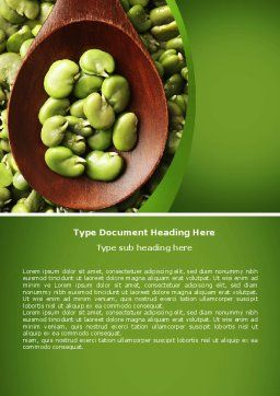 Broad Beans Word Template, Cover Page, 04711, Food & Beverage — PoweredTemplate.com