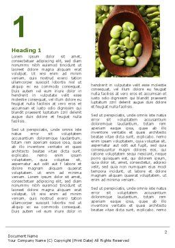 Broad Beans Word Template, First Inner Page, 04711, Food & Beverage — PoweredTemplate.com