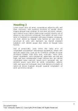 Broad Beans Word Template, Second Inner Page, 04711, Food & Beverage — PoweredTemplate.com