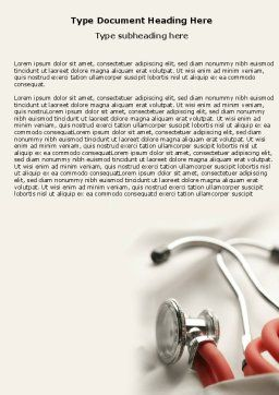 Phonendoscope In A Gray Red Colors Word Template, Cover Page, 04712, Medical — PoweredTemplate.com