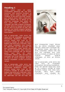 Phonendoscope In A Gray Red Colors Word Template, First Inner Page, 04712, Medical — PoweredTemplate.com