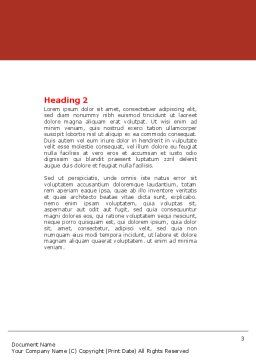 Phonendoscope In A Gray Red Colors Word Template, Second Inner Page, 04712, Medical — PoweredTemplate.com