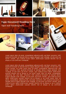 Hotel Services Word Template, Cover Page, 04713, Careers/Industry — PoweredTemplate.com