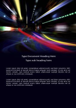 Long Exposure Word Template, Cover Page, 04717, Cars/Transportation — PoweredTemplate.com
