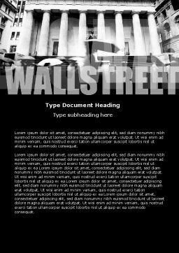Wall Street Word Template Cover Page