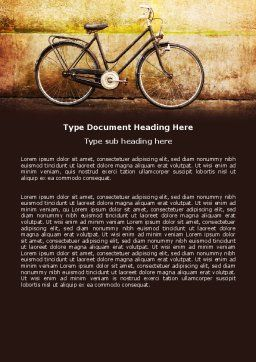 Bicycle Word Template Cover Page