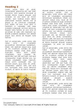 Bicycle Word Template First Inner Page