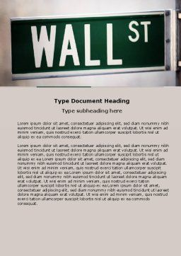 Wall St Word Template, Cover Page, 04722, Financial/Accounting — PoweredTemplate.com