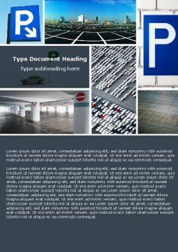 Parking Lot Word Template, Cover Page, 04727, Cars/Transportation — PoweredTemplate.com