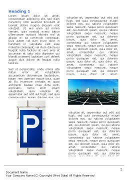 Parking Lot Word Template, First Inner Page, 04727, Cars/Transportation — PoweredTemplate.com