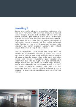 Parking Lot Word Template, Second Inner Page, 04727, Cars/Transportation — PoweredTemplate.com