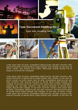 Surveying Word Template, Cover Page, 04728, Construction — PoweredTemplate.com