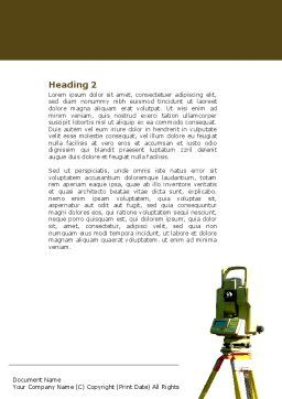 Surveying Word Template, Second Inner Page, 04728, Construction — PoweredTemplate.com