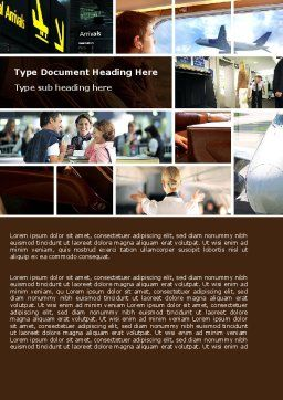 Departure Zone Word Template, Cover Page, 04731, Cars/Transportation — PoweredTemplate.com
