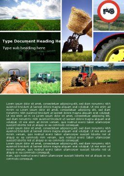 Tractor Collage Word Template, Cover Page, 04733, Agriculture and Animals — PoweredTemplate.com