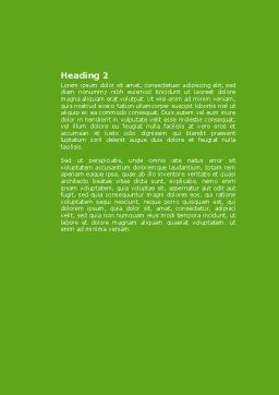 Green Salad Word Template, Second Inner Page, 04737, Food & Beverage — PoweredTemplate.com