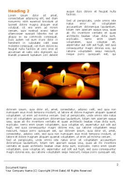 Religious Service Word Template, First Inner Page, 04743, Religious/Spiritual — PoweredTemplate.com