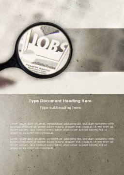Jobs Word Template, Cover Page, 04745, Consulting — PoweredTemplate.com