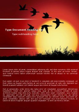 Flock Word Template, Cover Page, 04746, Nature & Environment — PoweredTemplate.com