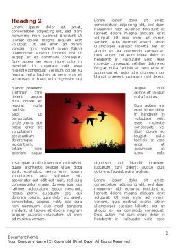 Flock Word Template First Inner Page