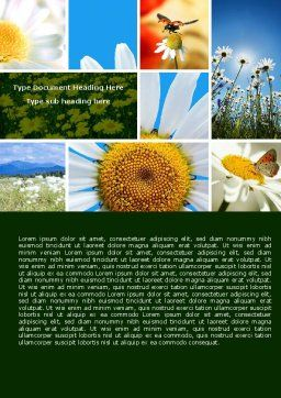 Camomile Field Word Template, Cover Page, 04752, Nature & Environment — PoweredTemplate.com