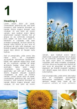 Camomile Field Word Template, First Inner Page, 04752, Nature & Environment — PoweredTemplate.com