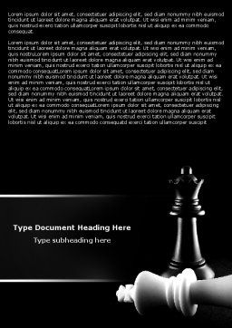 Checkmate Word Template, Cover Page, 04754, Sports — PoweredTemplate.com