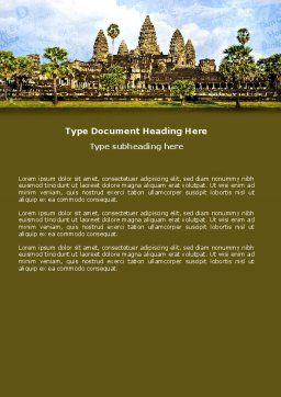 Cambodia Word Template, Cover Page, 04756, Flags/International — PoweredTemplate.com