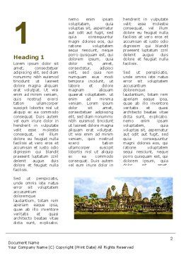 Cambodia Word Template, First Inner Page, 04756, Flags/International — PoweredTemplate.com