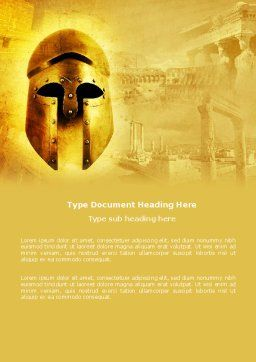 Antiquity Word Template, Cover Page, 04760, Education & Training — PoweredTemplate.com