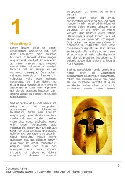 Antiquity Word Template First Inner Page
